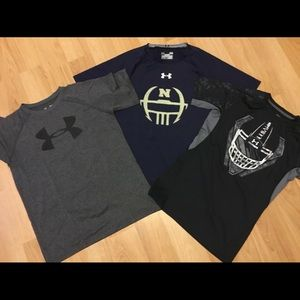 Lot of 3 Under Armour Tops -youth large